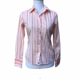 Ted Baker Striped Button Down Shirt Top